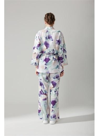 Mizalle Mizalle Batik Desenli Kimono,Rnkl,Xl Renkli